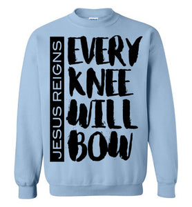 Every Knee Will Bow-Long sleeve t-shirt-PureDesignTees