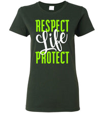 Load image into Gallery viewer, Respect Protect Life Ladies Short-Sleeve T-Shirt-T-Shirt-PureDesignTees