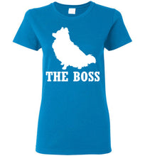 Load image into Gallery viewer, Pomeranian the Boss Ladies Short-Sleeve T-Shirt-T-Shirt-PureDesignTees
