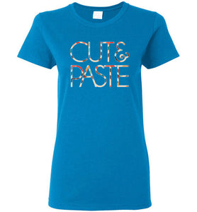 Cut & Paste Ladies Short-Sleeve T-Shirt-T-Shirt-PureDesignTees