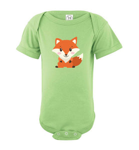 Cute Fox Infant Fine Jersey Bodysuit-PureDesignTees