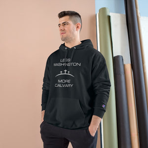 Less Washington More Calvary Champion Hoodie-Hoodie-PureDesignTees