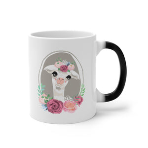 Decorated Llama Color Changing Mug