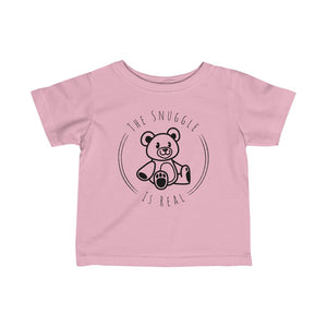 The Snuggle is Real Infant Fine Jersey Tee-Kids clothes-PureDesignTees