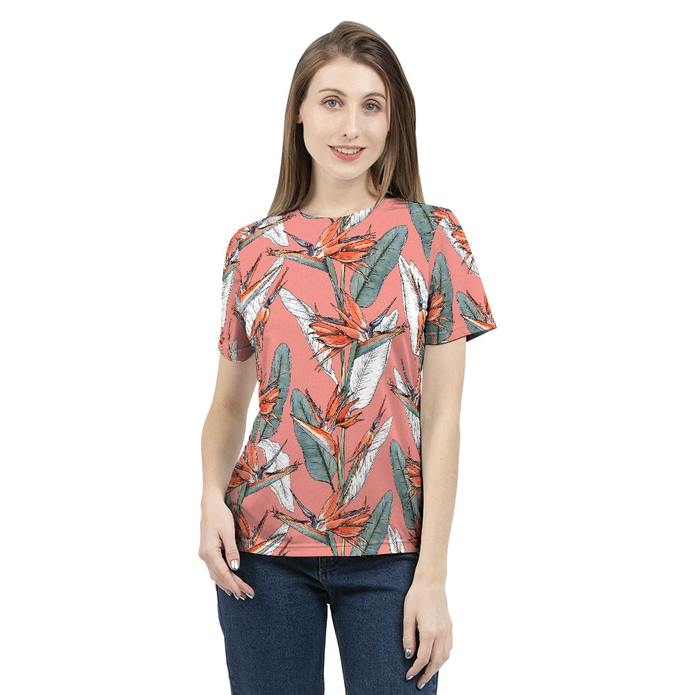 Birds of Paradise Women's Tee-cloth-PureDesignTees