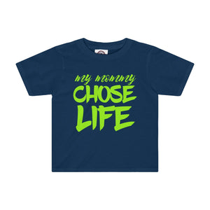 My Mommy Chose Life Kids Tee-Kids clothes-PureDesignTees