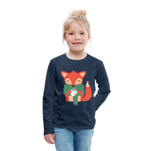 Load image into Gallery viewer, Fox Having Coffee Kids' Premium Long Sleeve T-Shirt-Kids' Premium Long Sleeve T-Shirt-PureDesignTees