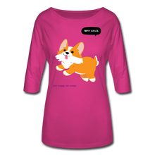 Load image into Gallery viewer, Puppy Kisses and Waggy Tail Wishes Women's 3/4 Sleeve Shirt-Women's 3/4 Sleeve Shirt-PureDesignTees