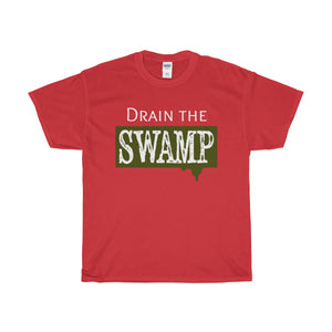 Drain the Swamp Unisex Heavy Cotton Tee-T-Shirt-PureDesignTees