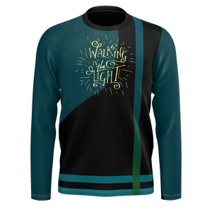 Walking in the Light Abstract Long Sleeve Jersey-Long sleeve t-shirt-PureDesignTees