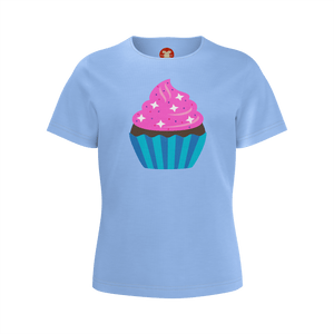 Cupcake Super Soft Jersey for Girls-Shirt-PureDesignTees