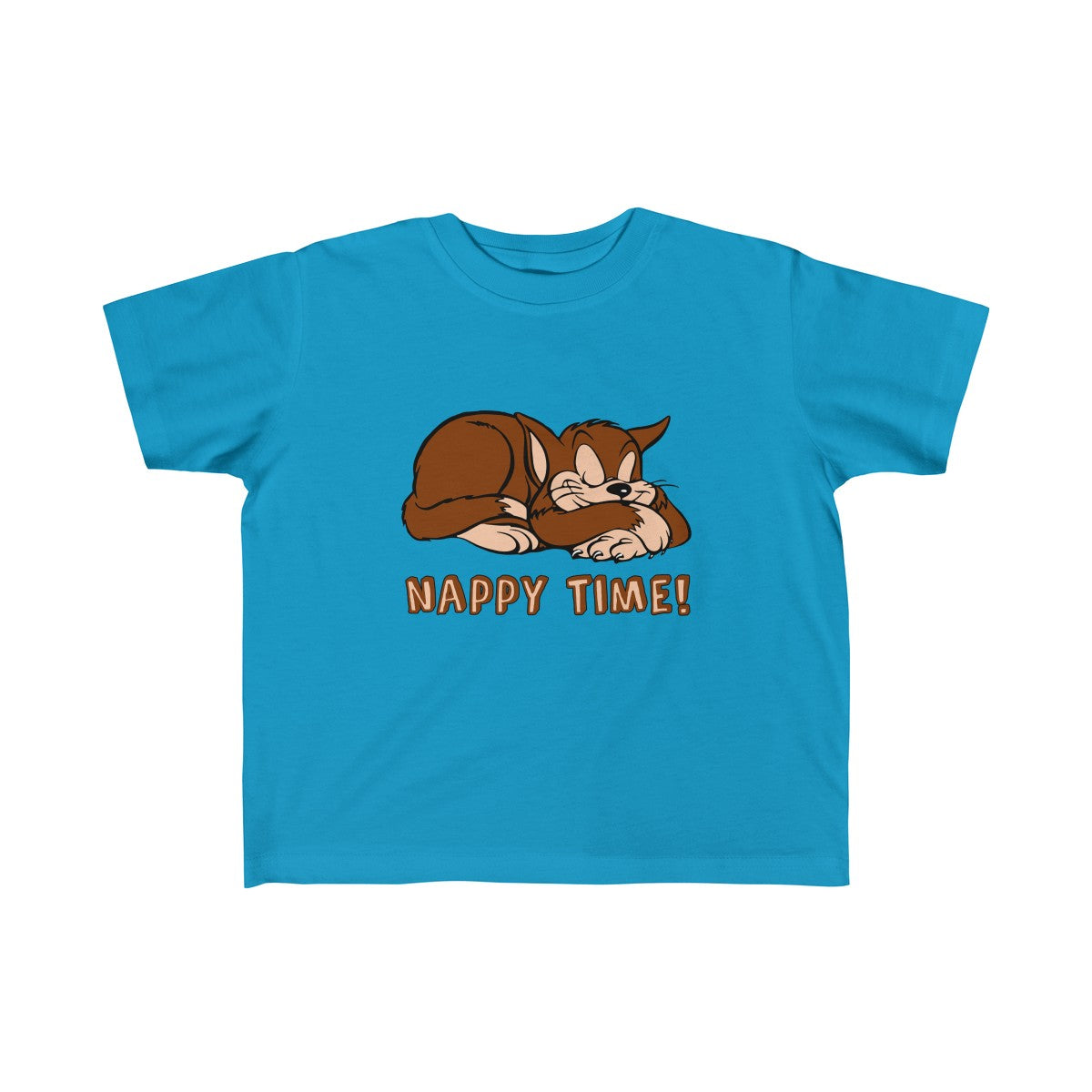 Nappy Time! with Sleeping Cat Toddler Fine Jersey Tee - PureDesignTees