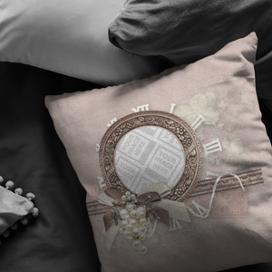Elegant Scrapbook Inspired Frame Throw Pillow-Pillows Multi Template-PureDesignTees