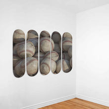 Load image into Gallery viewer, Baseballs 5x Skateboard Wall Art-5 Skateboard Wall Art-PureDesignTees