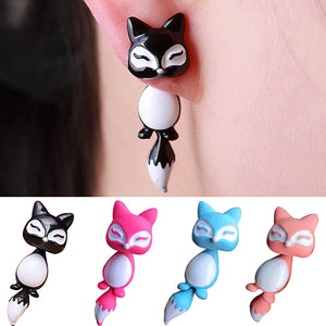 1Pc Women's Chic Cute 3D Fox Ear Stud Earring-Earrings-PureDesignTees
