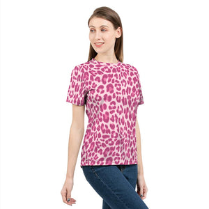 Animal Print Pink Combo Women's Tee-cloth-PureDesignTees