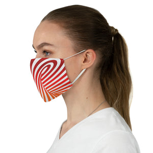 Vortex Optical Illusion Fabric Face Mask-Accessories-PureDesignTees