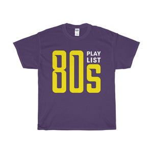 80s Play List Unisex Heavy Cotton Tee-T-Shirt-PureDesignTees