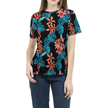 Load image into Gallery viewer, Tropical Floral Women's Tee-cloth-PureDesignTees