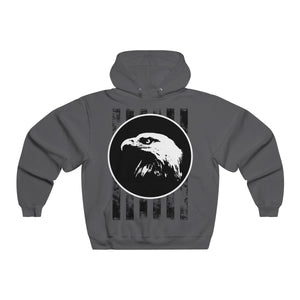 Bald Eagle with Stripes Men's NUBLEND® Hooded Sweatshirt-Hoodie-PureDesignTees