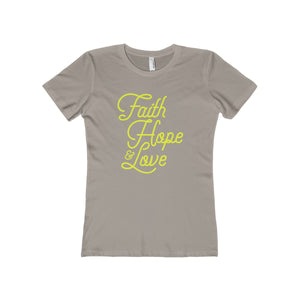 Faith Hope & Love Women's The Boyfriend Tee-T-Shirt-PureDesignTees