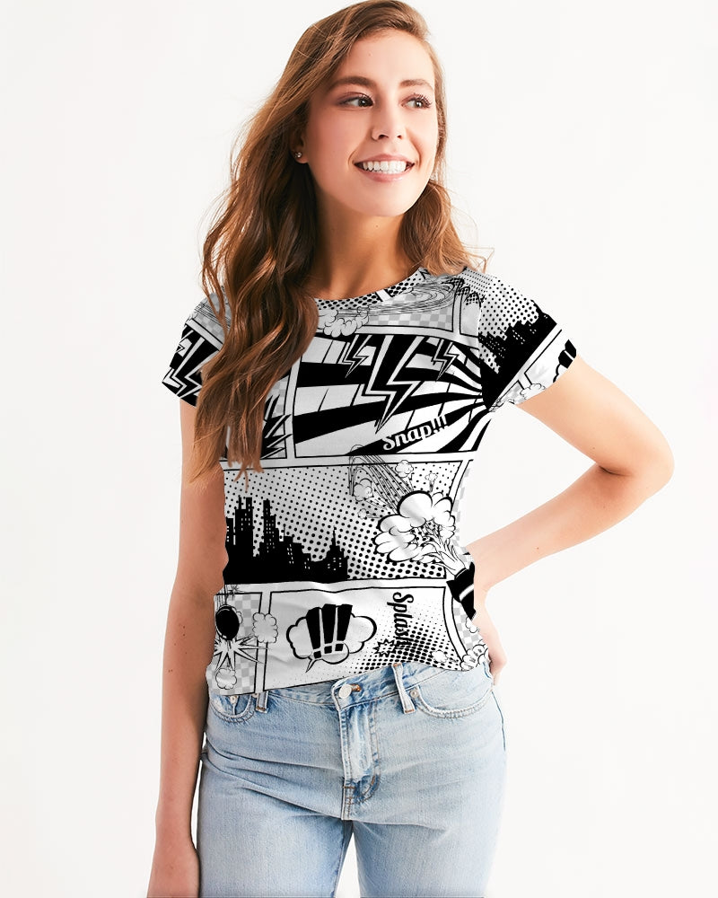 Retro Comic Women's Tee-cloth-PureDesignTees