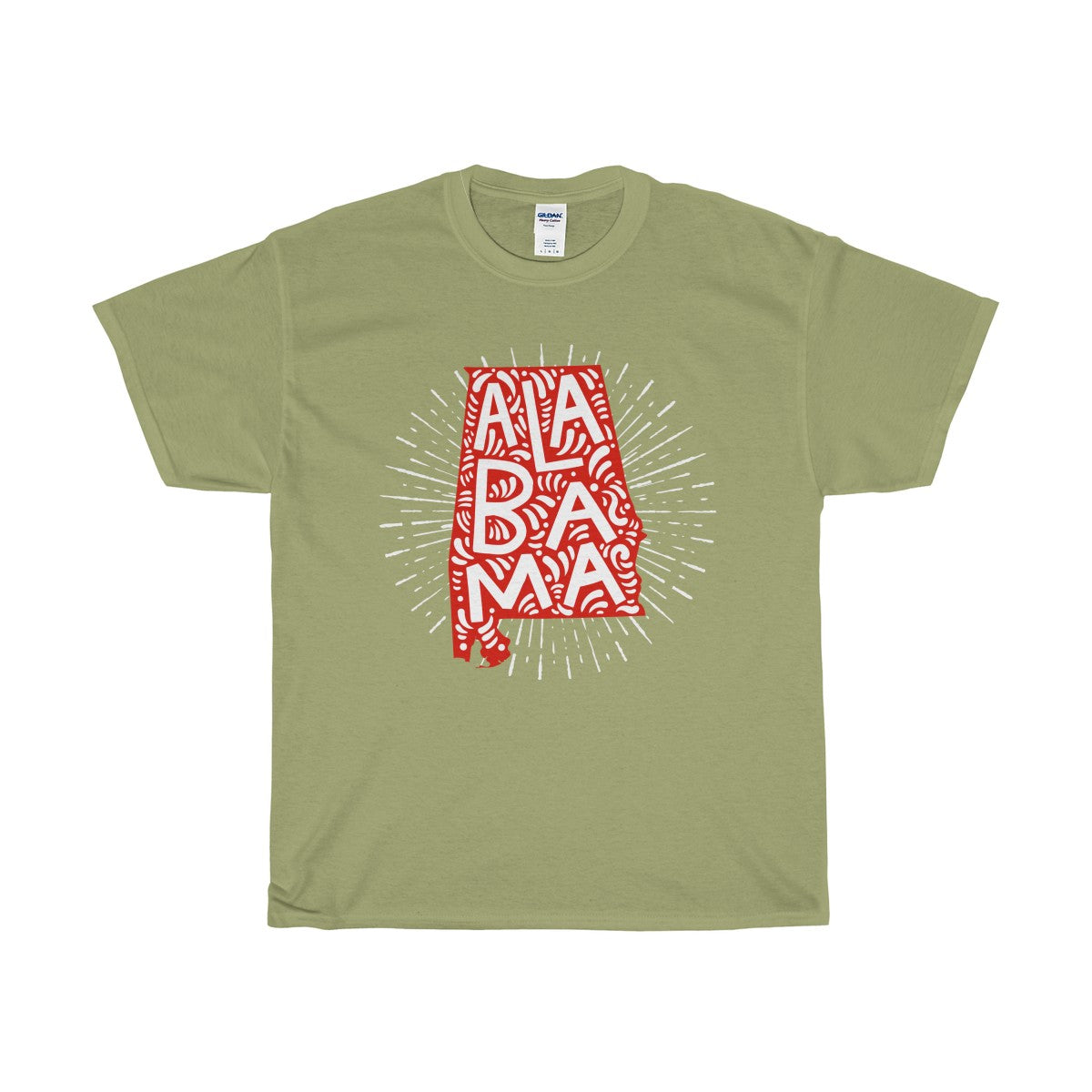 Alabama Unisex Heavy Cotton Tee - PureDesignTees