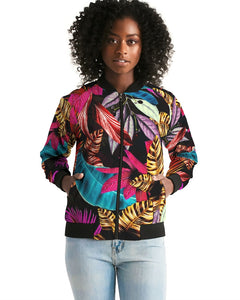 Foliage Feather Women's Bomber Jacket-cloth-PureDesignTees