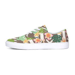 Colorful Tropics Pattern Lace Up Canvas Shoe-shoes-PureDesignTees
