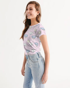 PATTERN Pink Women's Tee-cloth-PureDesignTees