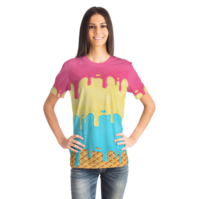 Melting Ice Cream Short Sleeve Tee-T-shirt-PureDesignTees