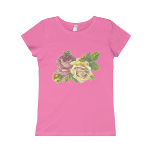 Vintage Roses The Princess Tee-Kids clothes-PureDesignTees