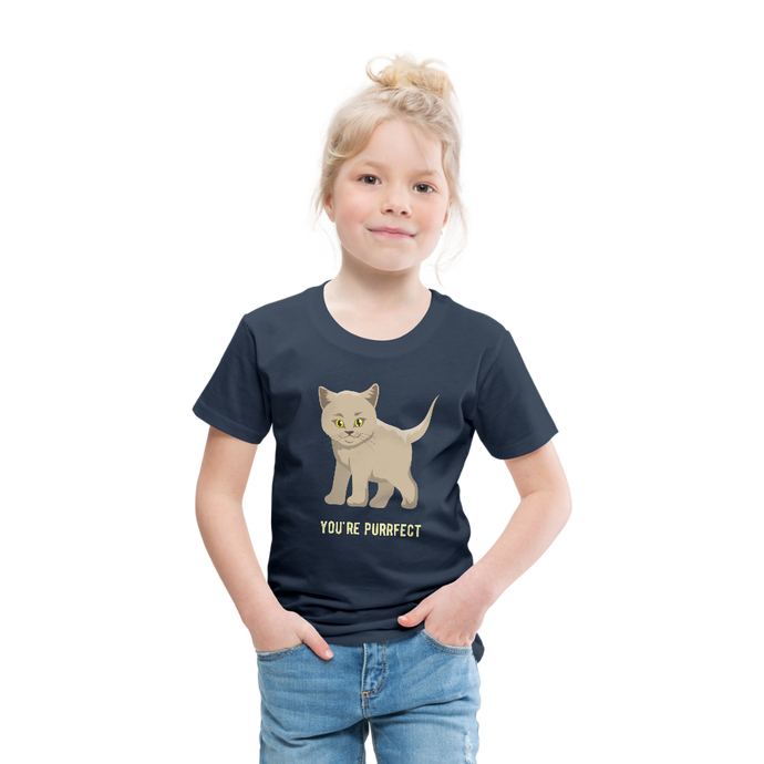 You're Purrfect Toddler Premium T-Shirt-Toddler Premium T-Shirt-PureDesignTees