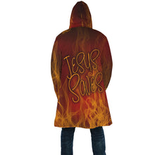 Load image into Gallery viewer, Jesus Saves Fire Cloak-AOP Cloak-PureDesignTees