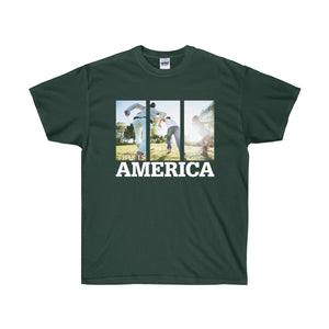 This is America - Children Running Unisex Ultra Cotton Tee-T-Shirt-PureDesignTees