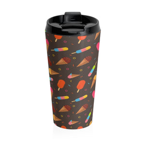 Ice Cream Treats Stainless Steel Travel Mug-Mug-PureDesignTees