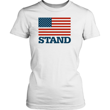 Load image into Gallery viewer, Stand for the Flag District Women's T-Shirt-T-shirt-PureDesignTees