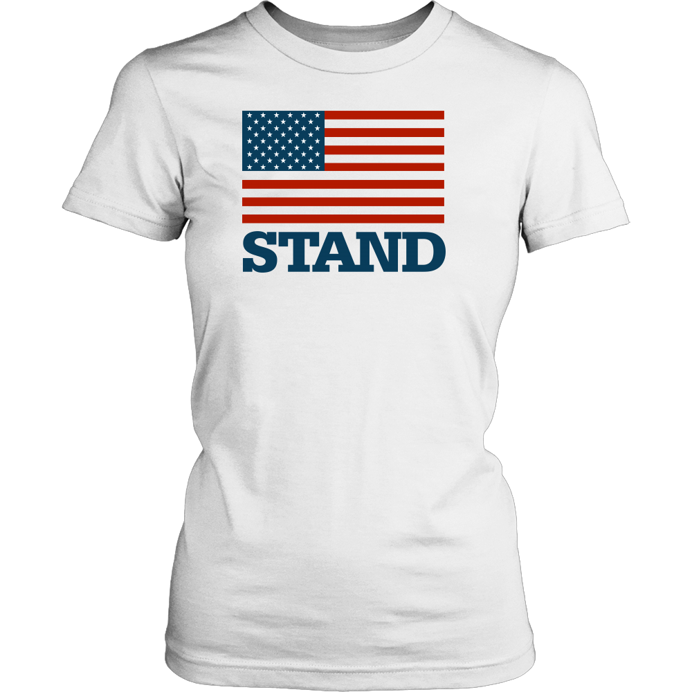 Stand for the Flag District Women's T-Shirt-T-shirt-PureDesignTees