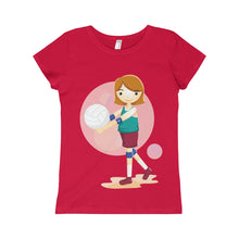 Load image into Gallery viewer, Volleyball Girls Princess Tee-Kids clothes-PureDesignTees