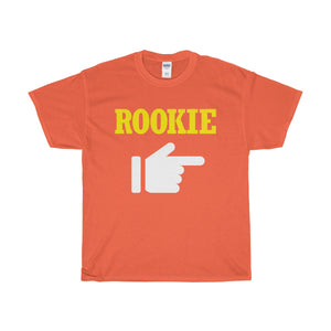 Rookie Heavy Cotton T-Shirt-T-Shirt-PureDesignTees