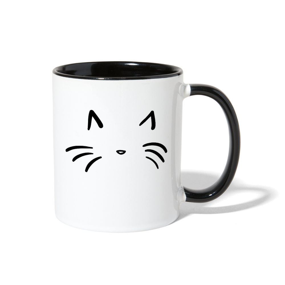 Cat Contrast Coffee Mug-Contrast Coffee Mug-PureDesignTees