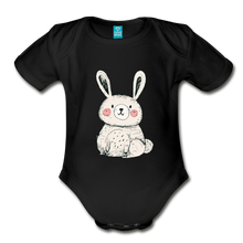 Load image into Gallery viewer, Cute Bunny Organic Short Sleeve Baby Bodysuit-Organic Short Sleeve Baby Bodysuit-PureDesignTees