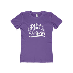 The Plant Whisperer Women's The Boyfriend Tee-T-Shirt-PureDesignTees