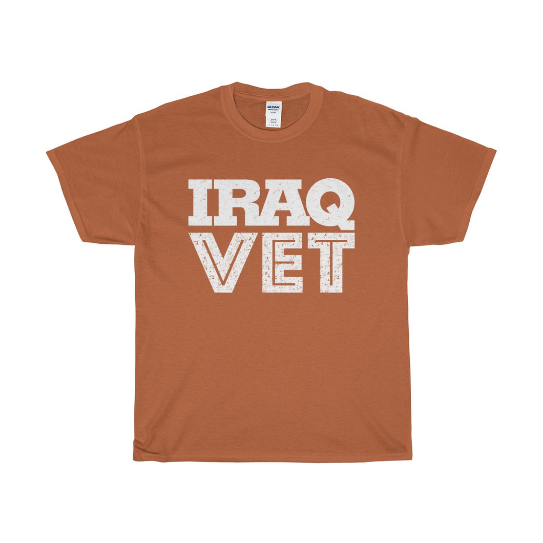 Iraq Vet Unisex Heavy Cotton Tee-T-Shirt-PureDesignTees