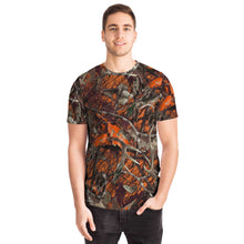 Load image into Gallery viewer, Orange Camo Unisex Tee-T-shirt-PureDesignTees