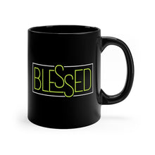 Load image into Gallery viewer, Blessed Black mug 11oz-Mug-PureDesignTees