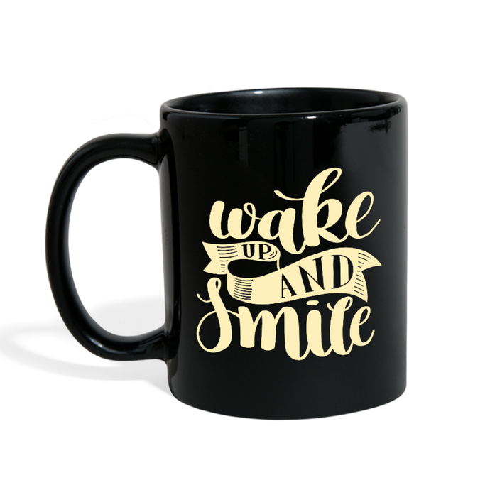 Wake Up and Smile Full Color Mug-Full Color Mug-PureDesignTees