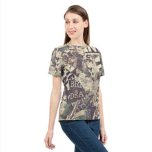 Load image into Gallery viewer, Grunge Newspaper Women's Tee-cloth-PureDesignTees