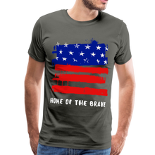 Load image into Gallery viewer, Home of the Brave Men's Premium T-Shirt-Men's Premium T-Shirt-PureDesignTees