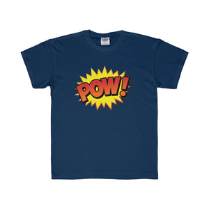 Comic Book Pow! Kids Regular Fit Tee-Kids clothes-PureDesignTees